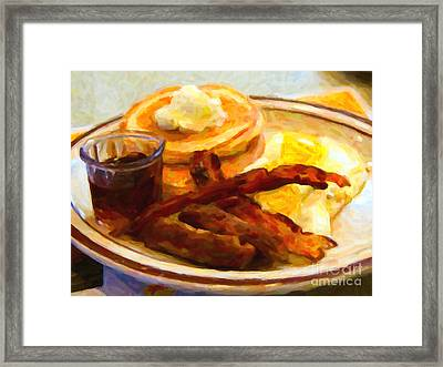 Denny's Grand Slam Breakfast - Painterly Framed Print by Wingsdomain Art and Photography