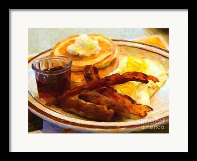 Grand Slam Breakfast Framed Prints