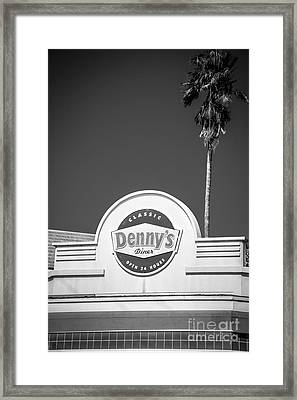 Denny's Key West - Black And White Framed Print by Ian Monk