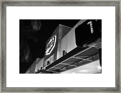 Denny's Store Front Framed Print by Andres LaBrada