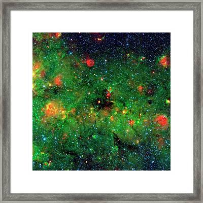 Dense Dust In Galactic Plane Framed Print
