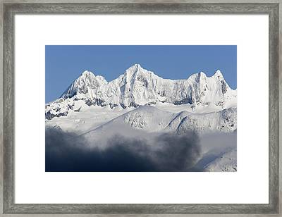 Dense Fog Burns Off To Reveal Snow Framed Print by John Hyde