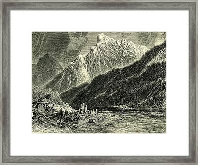 Dent Du Midi Switzerland Framed Print by Swiss School