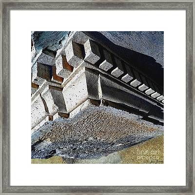Dent Espace La Verite Trebuche Sur La Place Publique Framed Print by Contemporary Luxury Fine Art