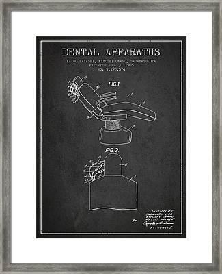 Dental Apparatus Patent From 1965 - Dark Framed Print