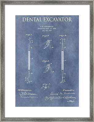 Dental Excavator Patent Framed Print