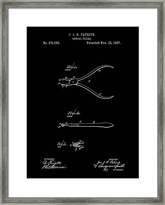 Dental Pliers Framed Print