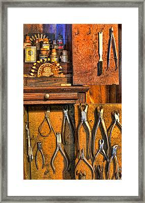 Dentist - Dental Porcelain And Extracting Forceps Cabinet II Framed Print by Lee Dos Santos