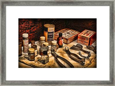 Dentist - Surgical Cement And Bite Blocks  Framed Print by Lee Dos Santos