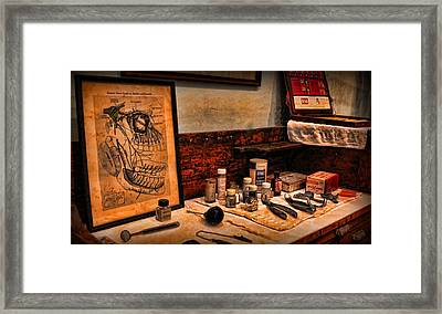 Dentist - The Nerve Chart Framed Print by Lee Dos Santos