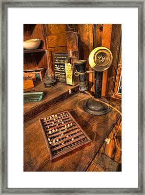 Dentist - Victorian Dental Crown Display Box And Candle Phone II Framed Print by Lee Dos Santos