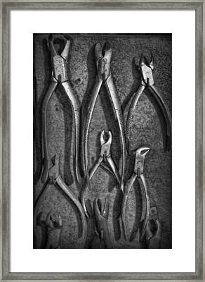 Dentist - Vintage Dental Extracting Forceps II Framed Print by Lee Dos Santos