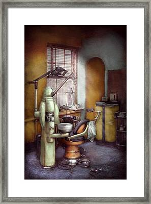 Dentist - Dental Office Circa 1940's Framed Print by Mike Savad