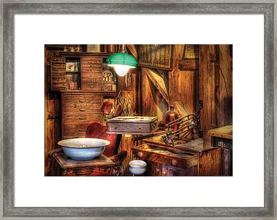 Dentist - In The Dentist's Office Framed Print by Mike Savad