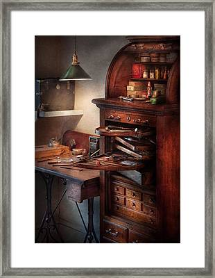 Dentist - Lab - Dental Workstation Framed Print by Mike Savad