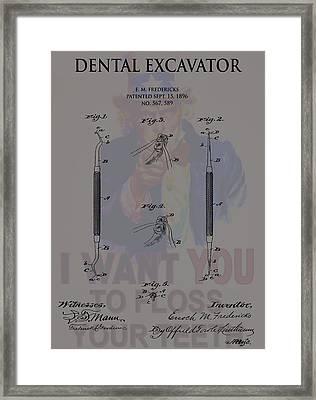 Dentist Poster Framed Print