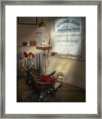Dentist - Sb Johnston Dentist 1919 Framed Print by Mike Savad