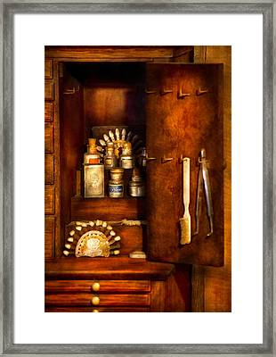 Dentist - The Dental Cabinet Framed Print by Mike Savad