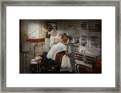 Dentist - The Dental Examination - 1943 Framed Print by Mike Savad
