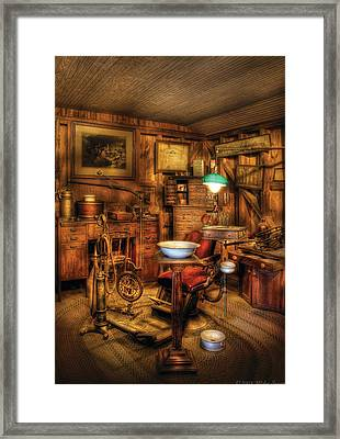 Dentist - The Dentist Office Framed Print by Mike Savad