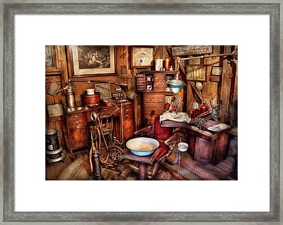 Dentist - The Doctor Will Be With You Soon  Framed Print by Mike Savad