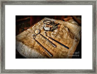 Dentist - The Mouth Mirror Framed Print