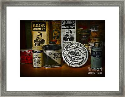 Dentist - Tooth Powder And More Framed Print by Paul Ward