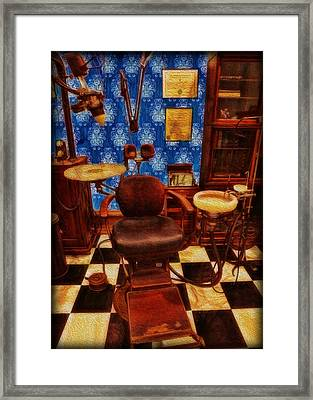 Dentist - Victorian Dentist Office Framed Print by Lee Dos Santos