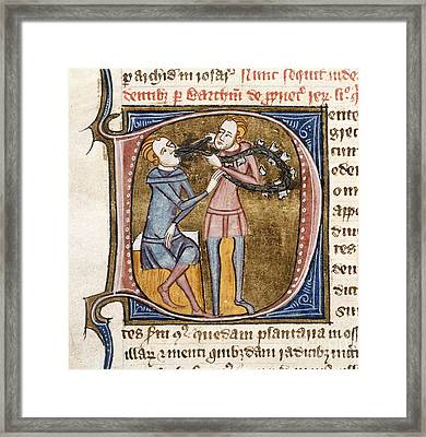 Dentistry, 14th-century Manuscript Framed Print by British Library