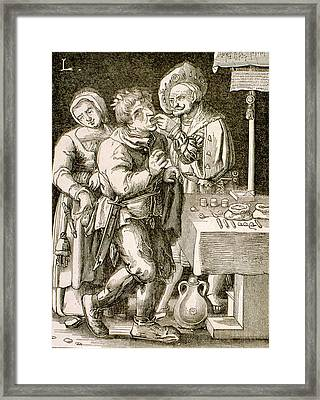 Dentistry In 17th Century France Framed Print by Universal History Archive/uig