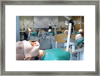 Dentistry Training Room Framed Print by Cmft Manchester