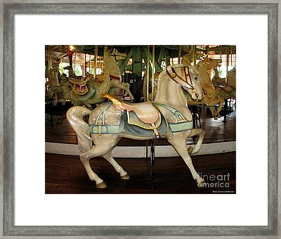 Dentzel Menagerie Carousel Horse Framed Print