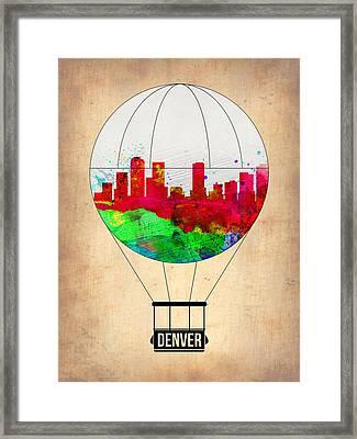 Denver Air Balloon Framed Print