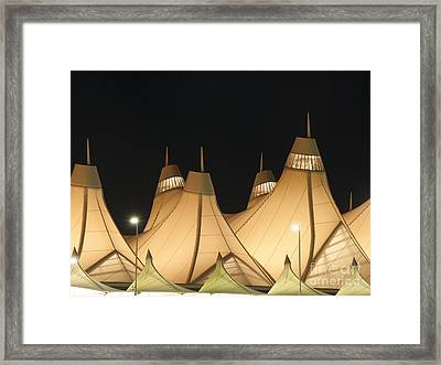 Denver Airport At Night Framed Print by Juli Scalzi