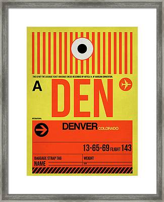 Denver Airport Poster 3 Framed Print