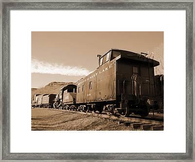 Denver And Salt Lake Caboose Framed Print