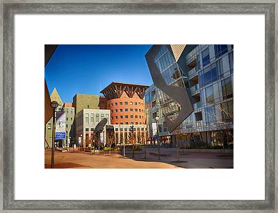 Denver Art Museum Courtyard Framed Print by Angelina Vick
