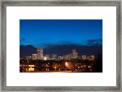 Denver At Twilight  Framed Print