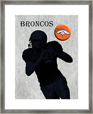 Denver Broncos Football Framed Print by David Dehner