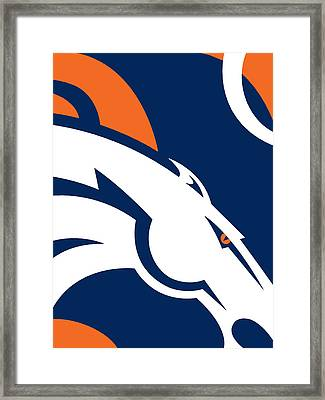 Denver Broncos Football Framed Print
