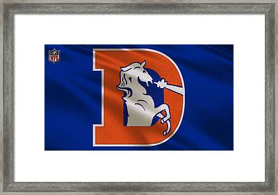 Denver Broncos Uniform Framed Print