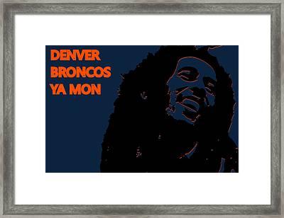Denver Broncos Ya Mon Framed Print