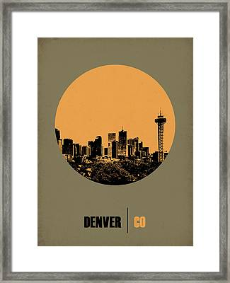 Denver Circle Poster 2 Framed Print