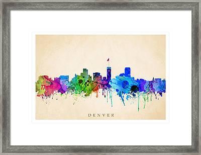 Denver Cityscape Framed Print