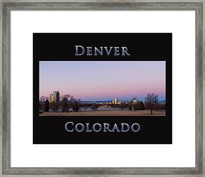 Denver Colorado Sunrise Framed Print