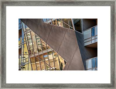 Denver Diagonals Framed Print by Angelina Vick
