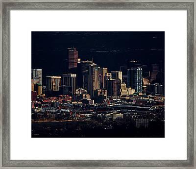 Denver Digital Art Framed Print