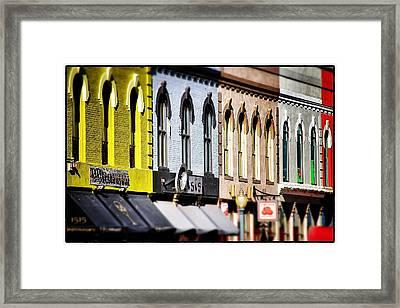 Denver Market Street Tilt Shift Framed Print by For Ninety One Days