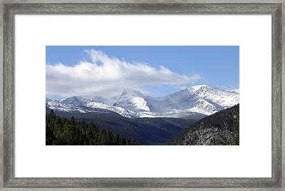 Denver Mountains Framed Print by Julie Palencia