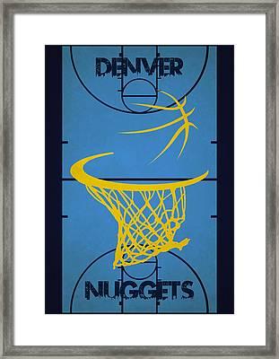 Denver Nuggets Court Framed Print